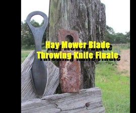 How to Forge a Throwing Knife From Recycled Farm Steel