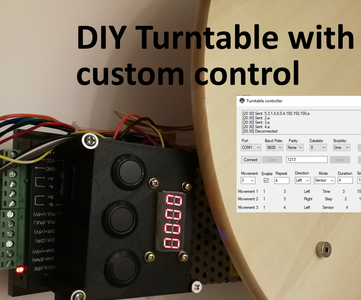 DIY Turntable With Custom Control: 5 Steps
