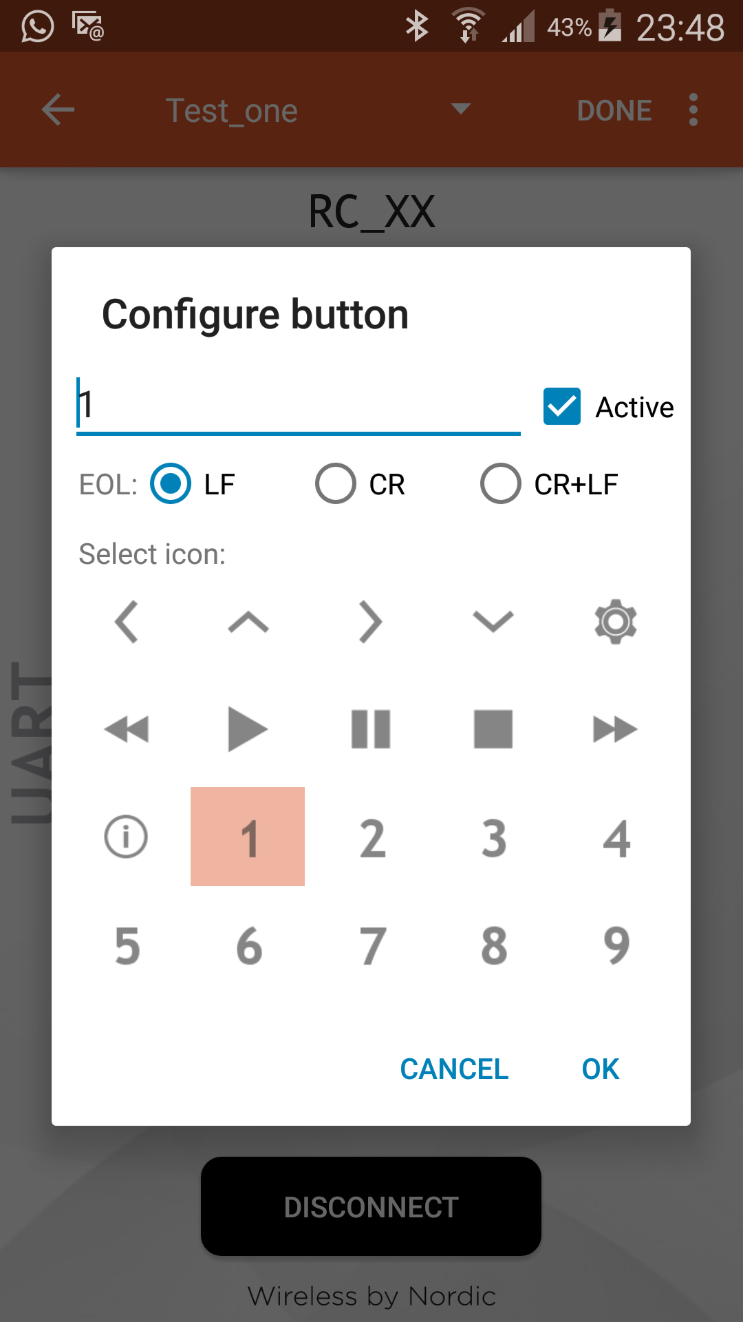 Picture of Creating the Bluetooth LE Remote Control