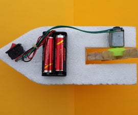How to Make a Homemade Toy Boat With DC Motor