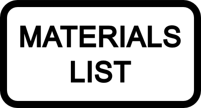 Picture of Materials List: