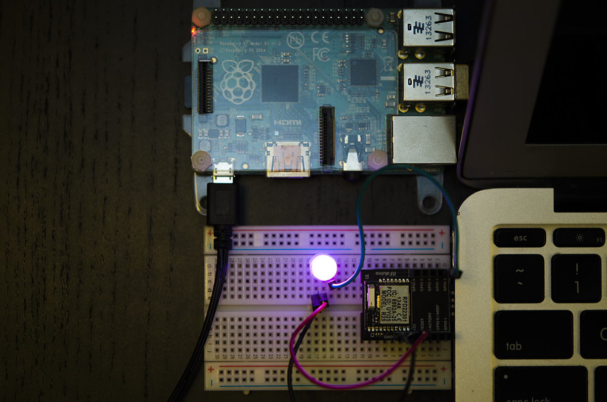 Picture of Raspberry Pi  Bluetooth LE Controller for WS2812B (NeoPixels)