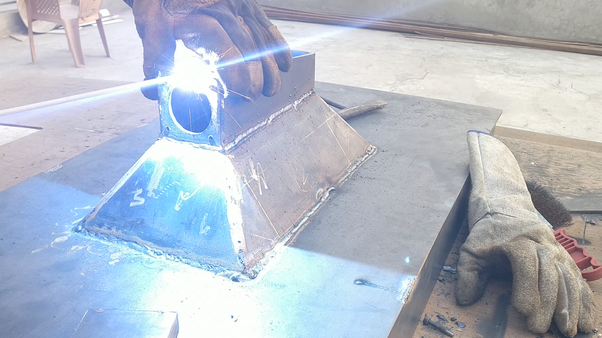 Picture of ​Making the  Air Chamber for the Forge