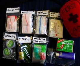 Organizing a mini first aid kit