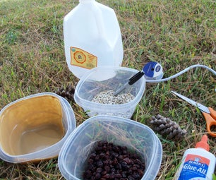 Build a Bird Feeder out of a Recycled Milk jug