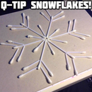 Q-Tip Snowflake Decorations
