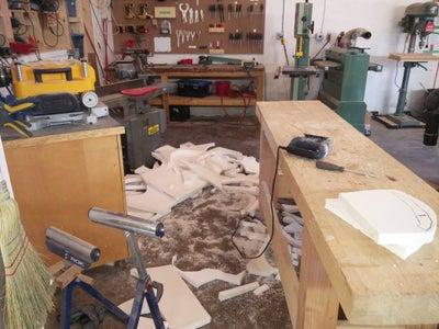 Tracing and Cutting Foam