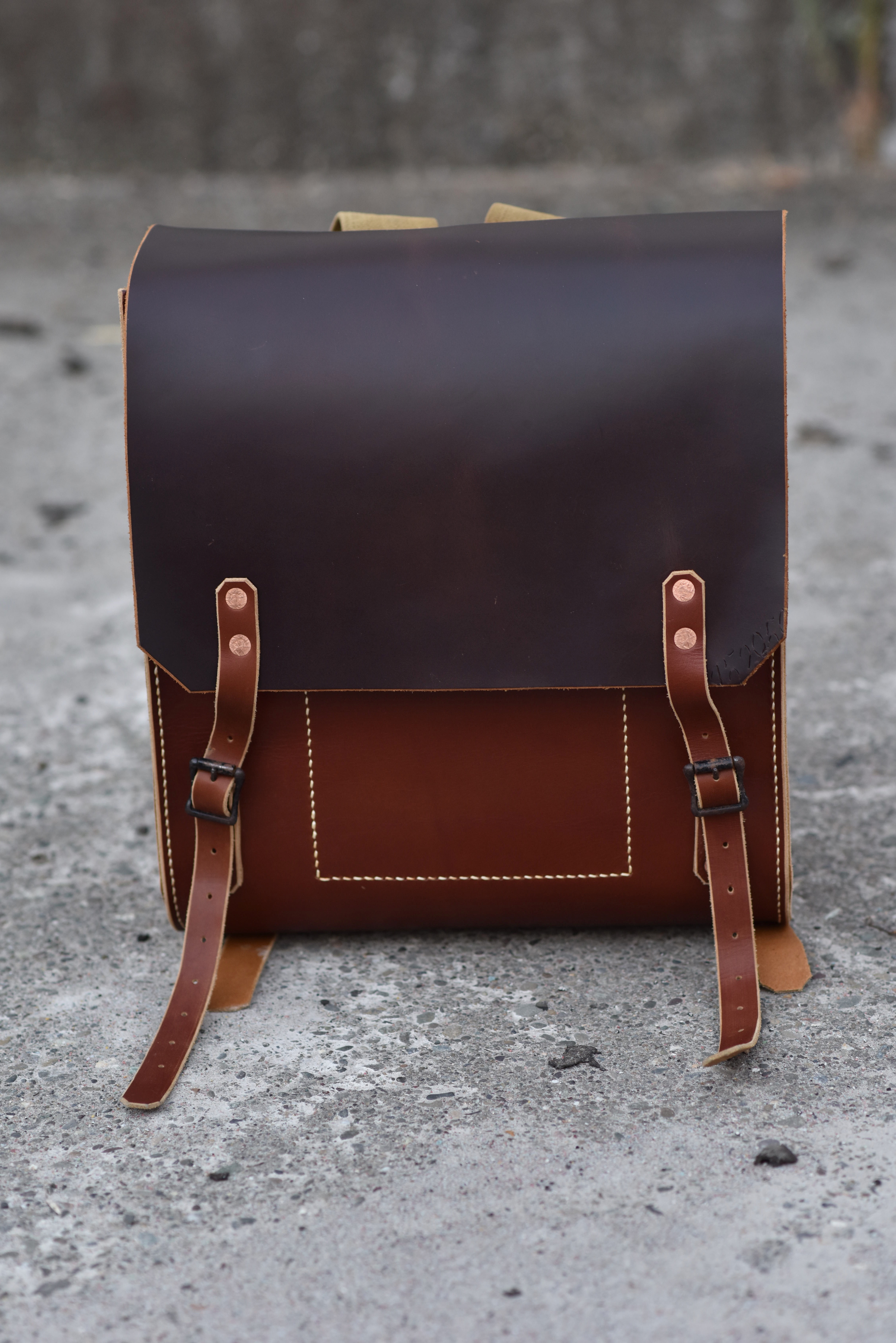 Picture of Hand Stitched Leather Rucksack