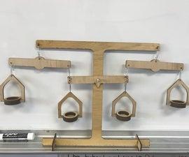 Laser Cut Algebra Balance - Teaching Tool