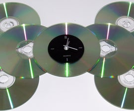 Recycled Cd Clock