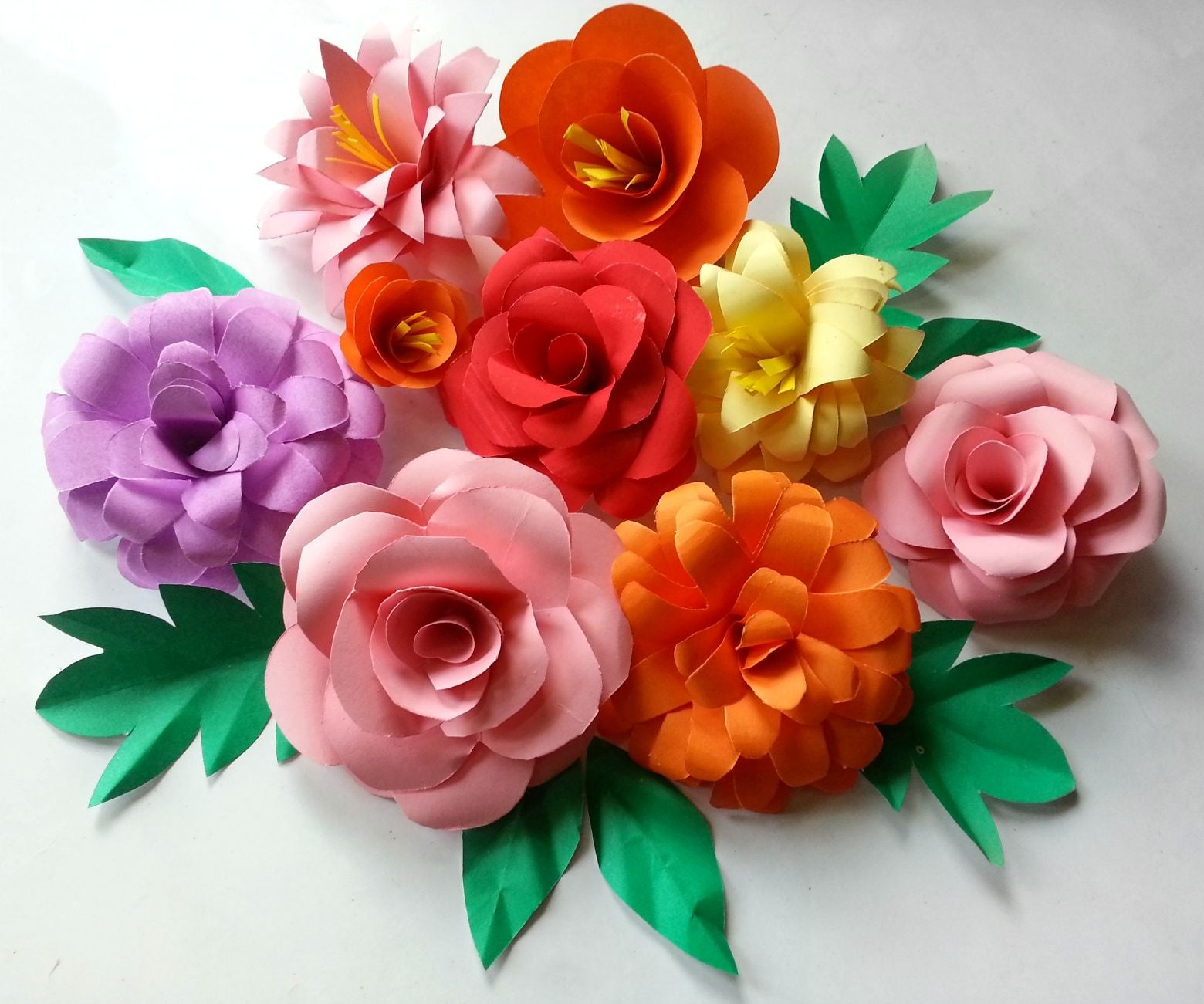 HOW TO MAKE 3D PAPER FLOWER BOUQUETS WITH VIDEO | 1301x1560