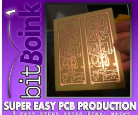 Fast and Easy PCB Prototyping With Vinyl!