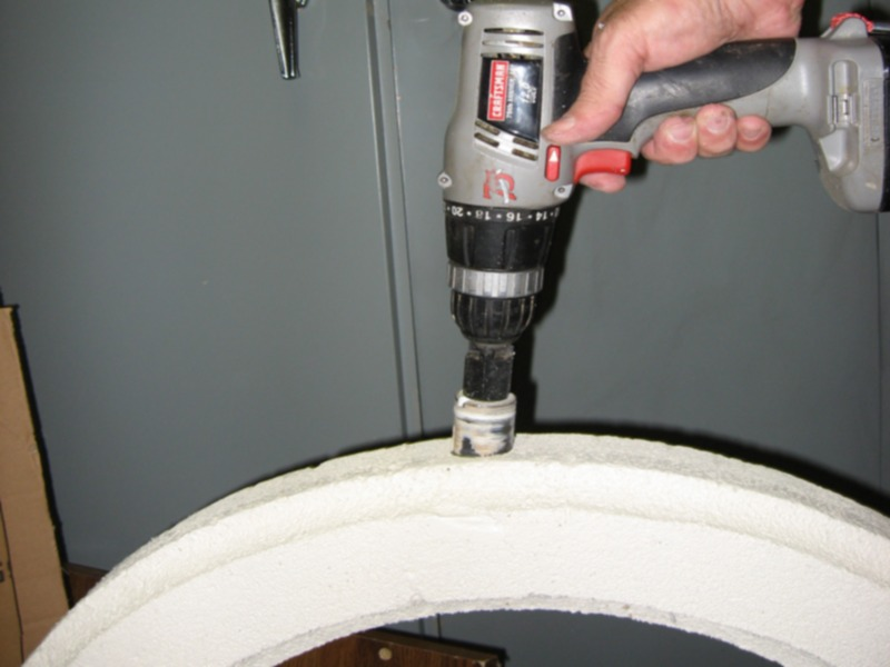 Picture of Adding Detail to the Wheel - the Cove Cut and Holes Drilled