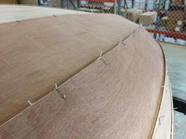 Picture of Reinforcing the Hull Joints...