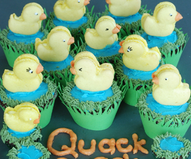 Quackaroons: duck macarons and pond cupcakes