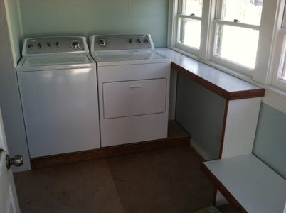 Reclaimed Crate Wood Laundry Room