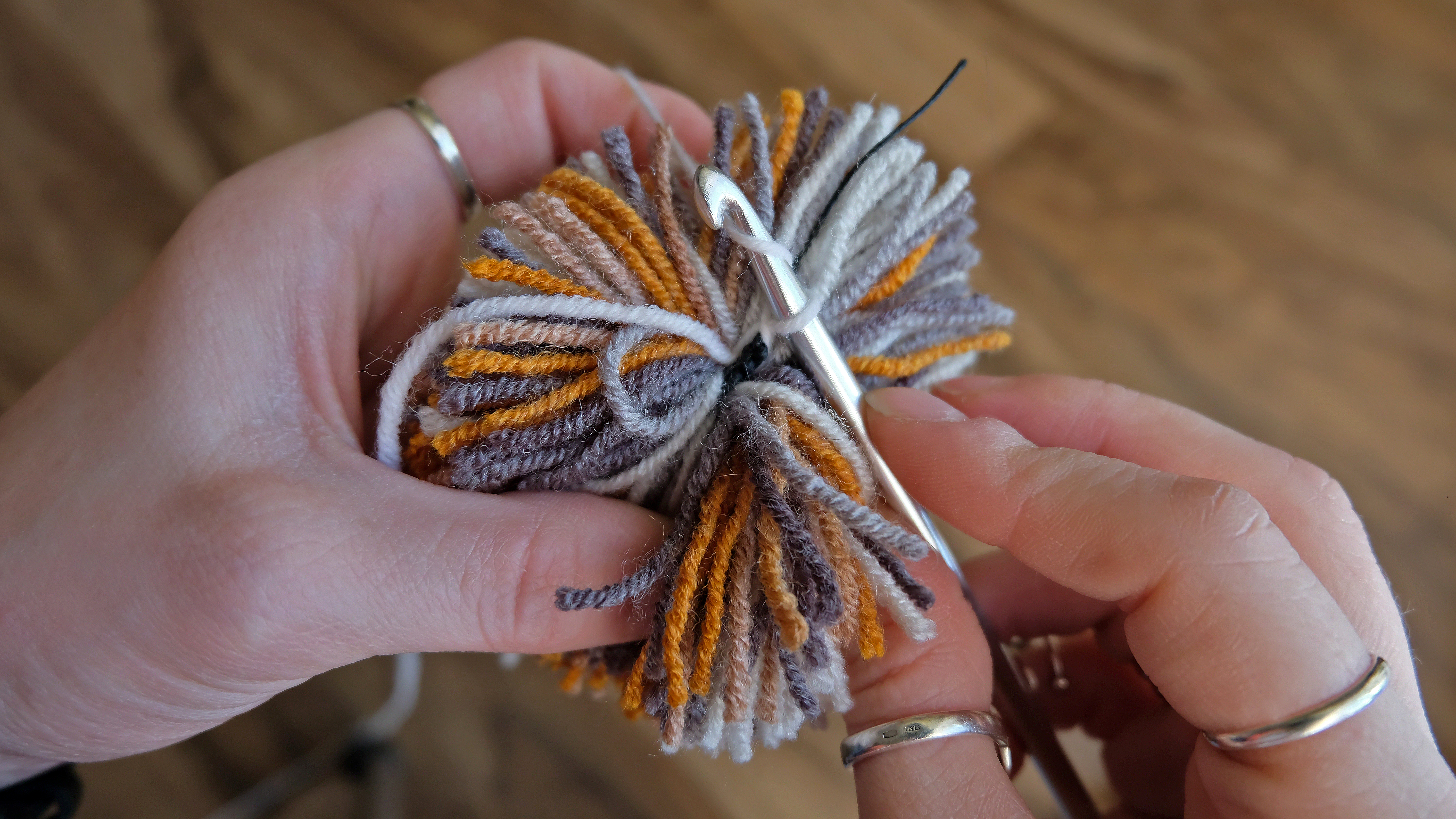 Picture of Crocheting. Fixing of Thread and Chain of Air Loops