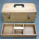 Functional and Sturdy Wooden Toolbox