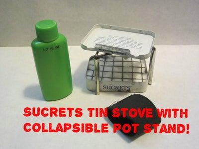 Altoids/Sucrets Tin Stove W/ Pot Stand