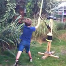 Sword-fighting martial arts practice dummy that fights back!