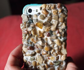 Real Stone-Covered iPhone Case