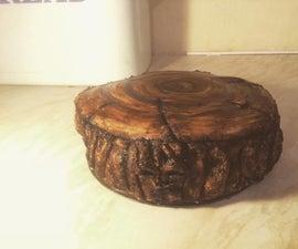 Evil Fondant Tree Stump Marble Cake