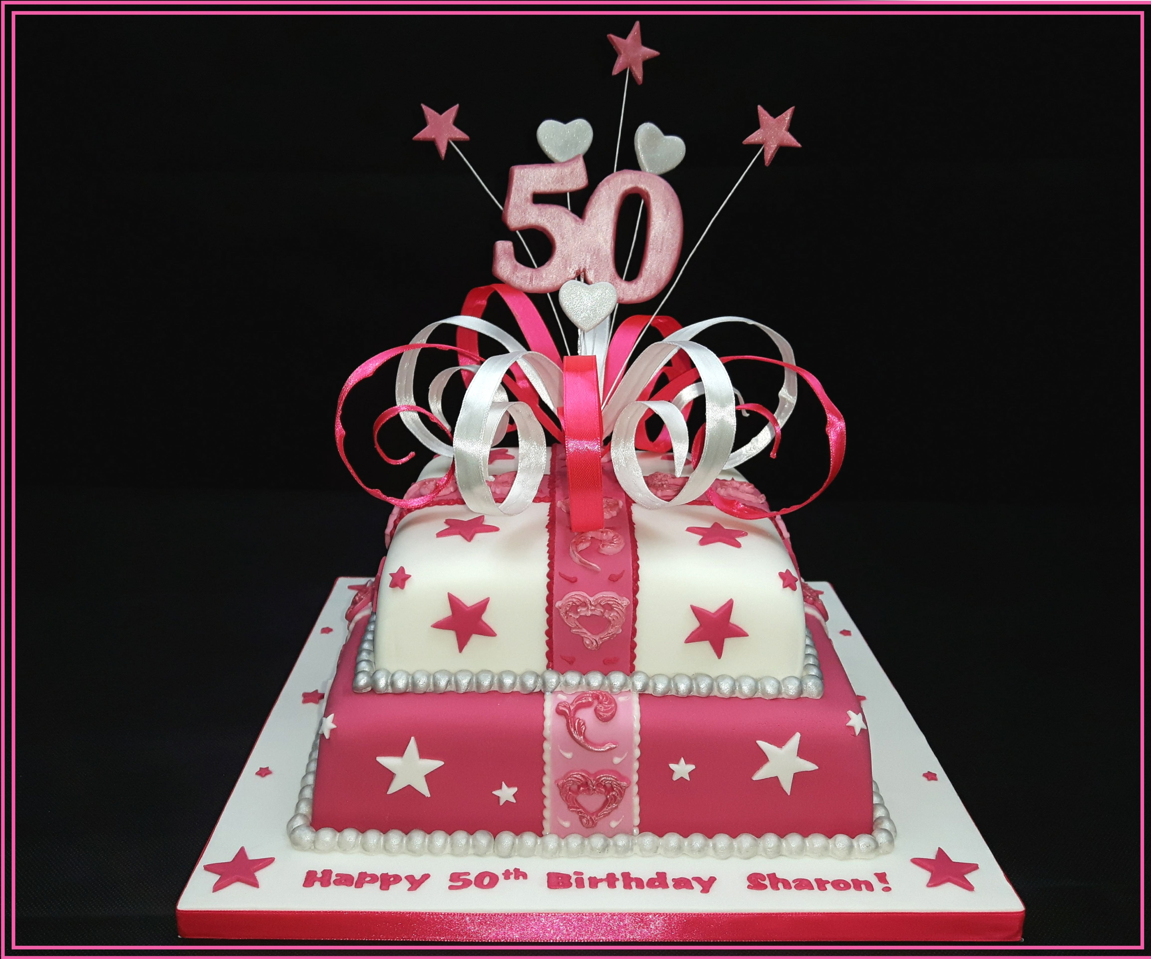 Tremendous 50Th Birthday Cake 7 Steps With Pictures Instructables Personalised Birthday Cards Bromeletsinfo