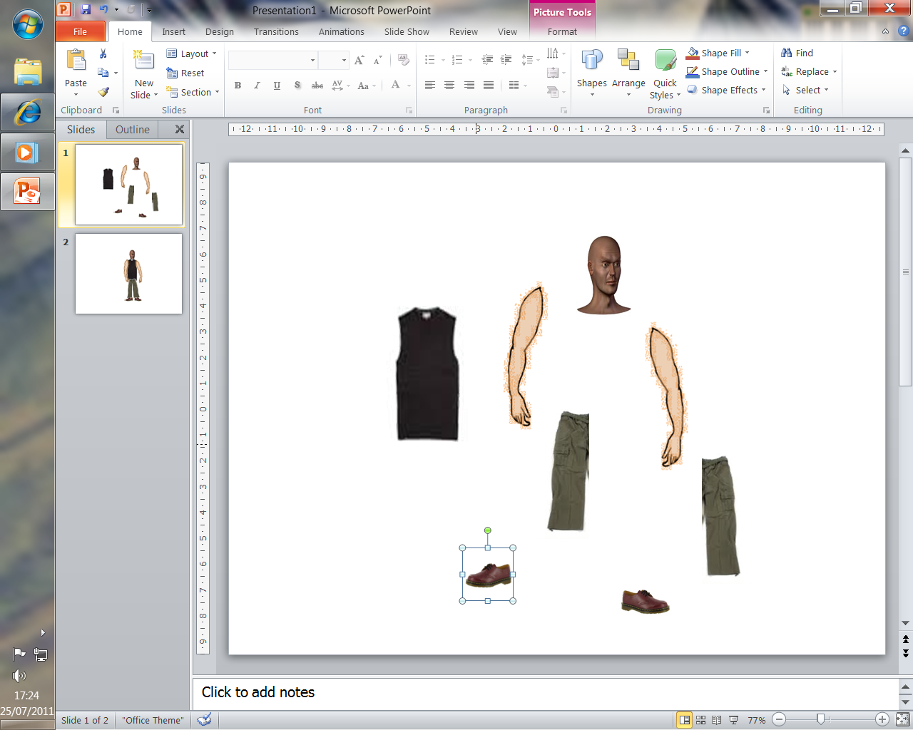 Picture of Animation on Powerpoint