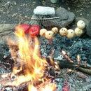Rake-kabobs and Root Beer Marinaded Ribeyes