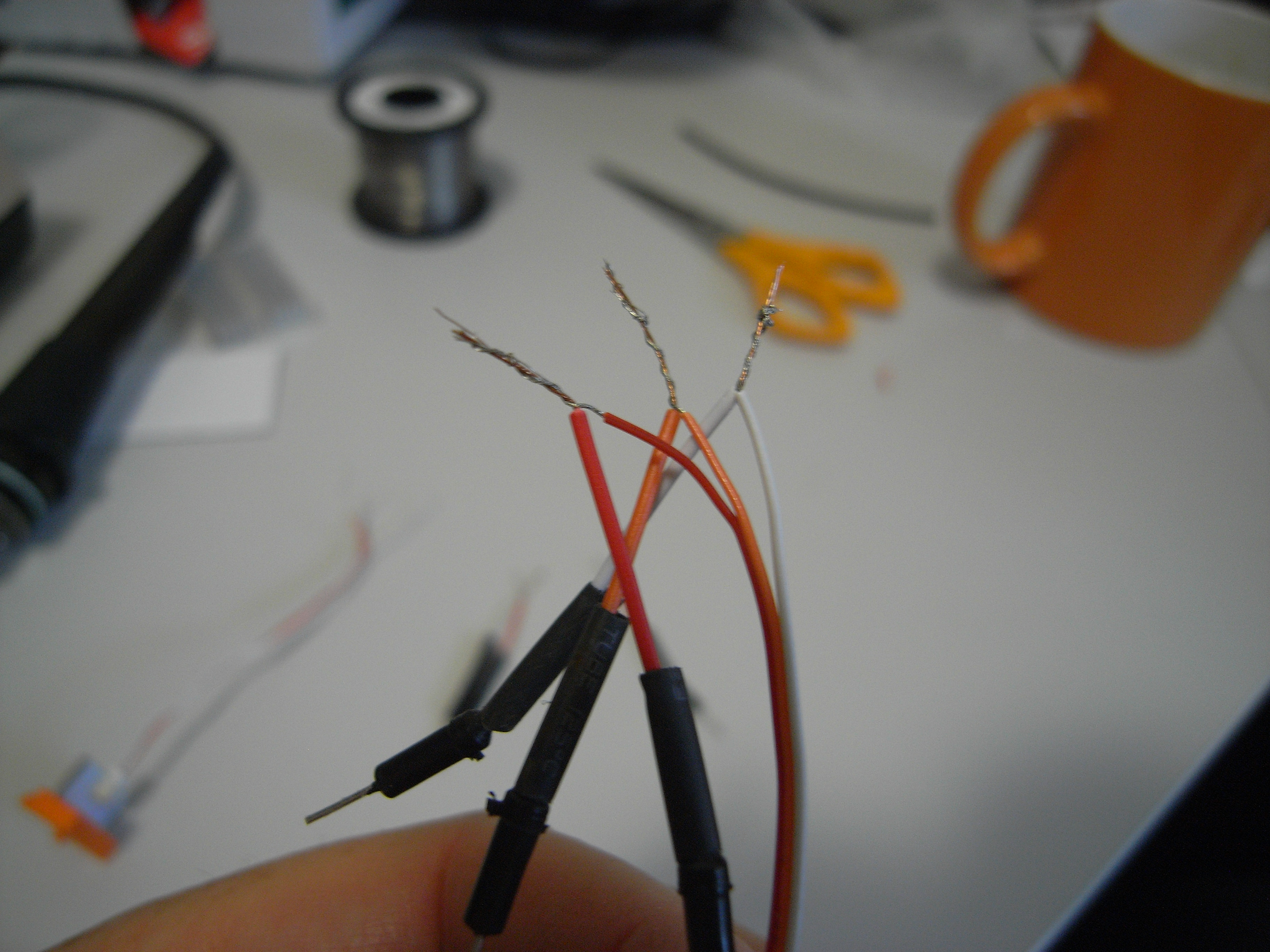 Picture of Add Heat-shrink Sleeve and Twist the Wires Together