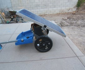 Portable Solar Generator on a bike trailer for Burning Man