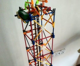 Knex Vertical Micro Chain Lift - Ping Pong Balls