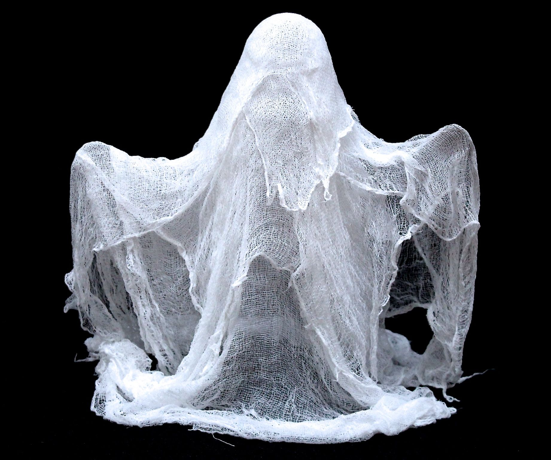 How to Make Cheesecloth Ghosts 6 Steps with