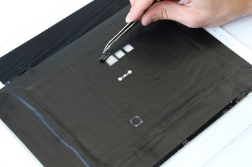 Picture of Stencil Mask for Bottom Conductive Layer