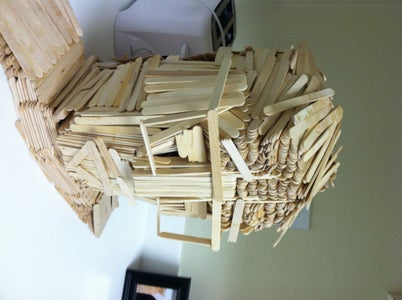 Craft Stick Head Model