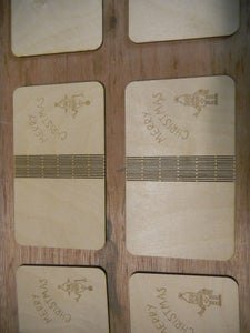 Cut and Engrave the Cards