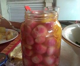 spicy red onion (Cebollas rojas picantes)