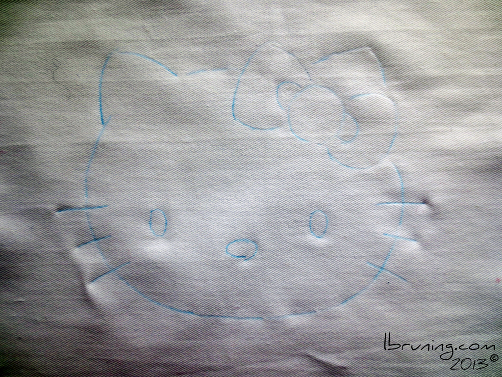 Picture of Trace Hello Kitty to Your Fabric