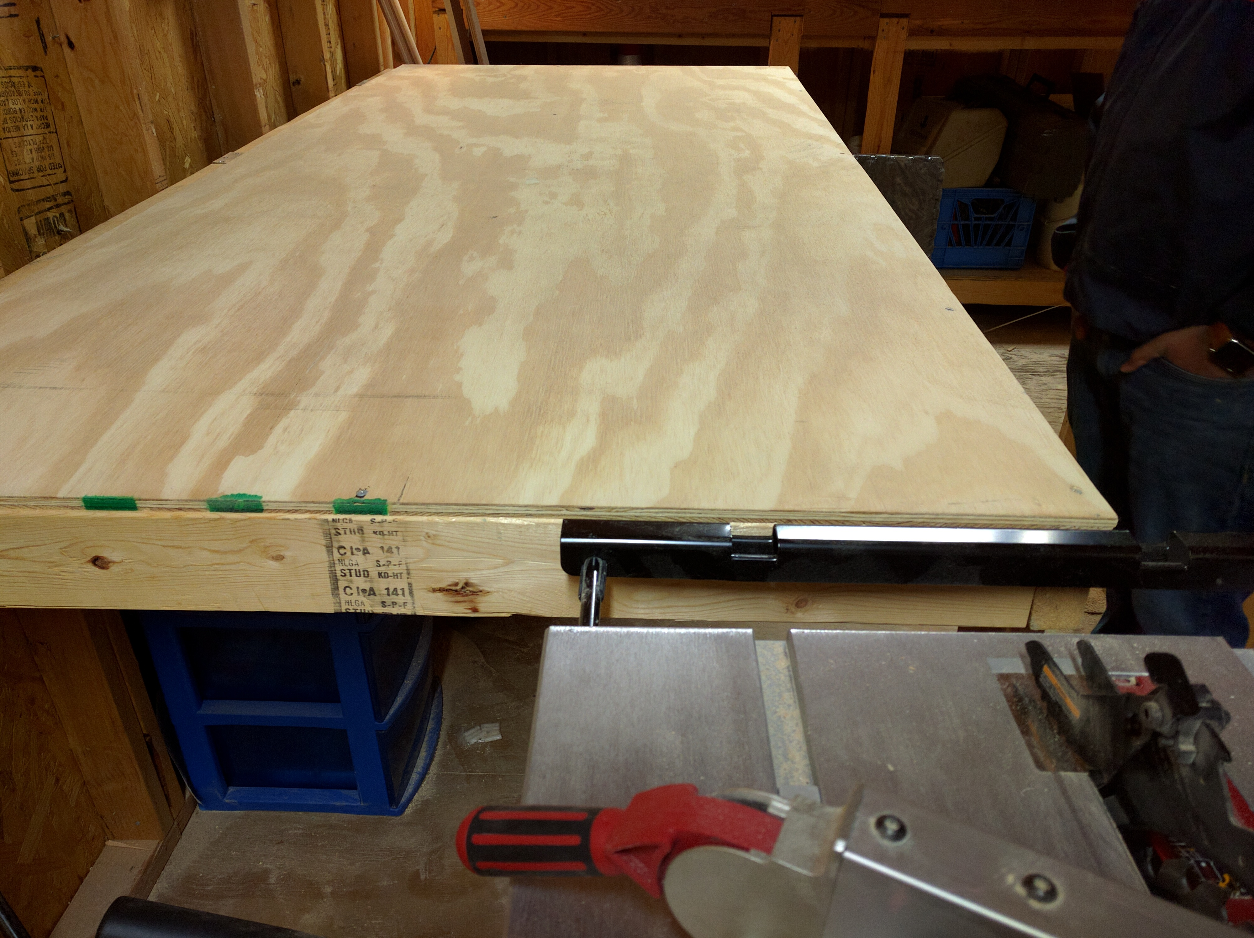 Picture of Folding Up Flat Workbench / Shop Table