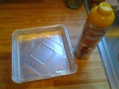 Spray Your Baking Pan