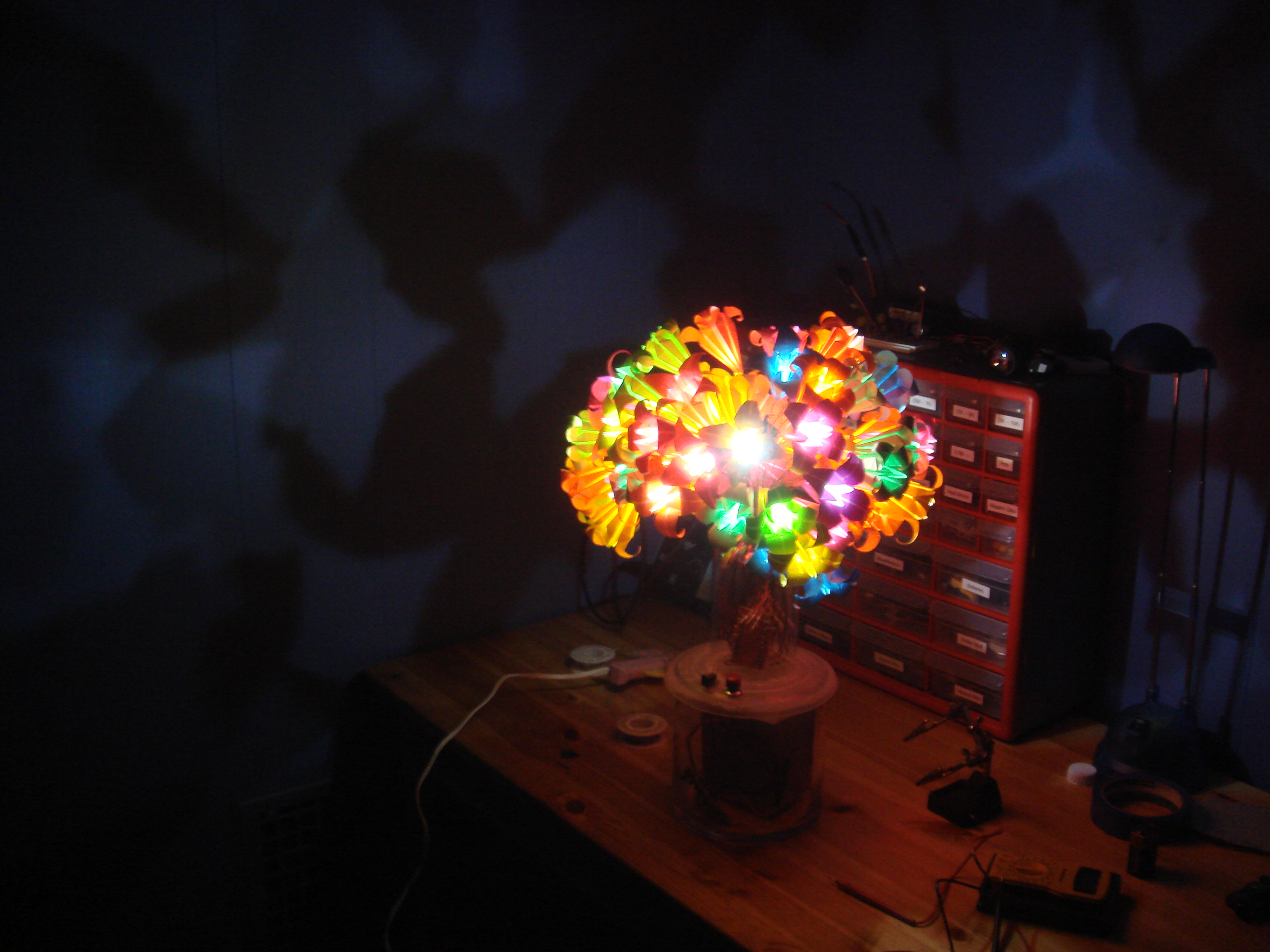 Picture of Solar Powered LED Origami Flower Vase