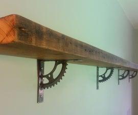 Self on a Shelf: A shelf built from junk