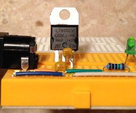 Simple 5V Breadboard Power Supply
