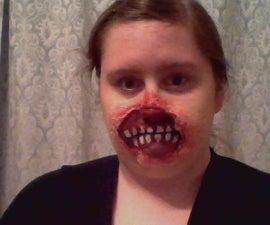 Horror Makeup- Torn Face