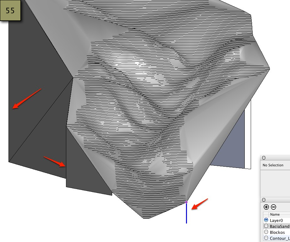 Picture of From the Watershed Contours Generate the Terrain Model - SketchUp