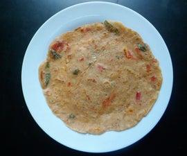 Bread Uttapam (Thick Bread Pancake)