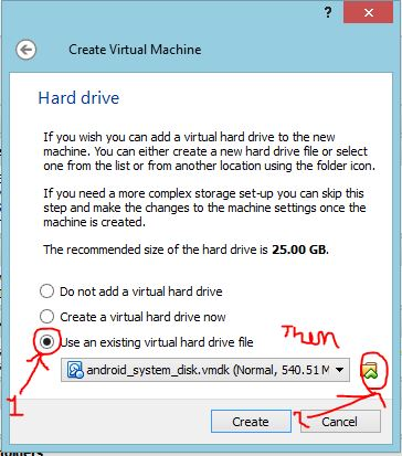 "Picture of Click ""Use an Existing Virtual Hard Disk File"" and Click the Folder Icon on the Left"