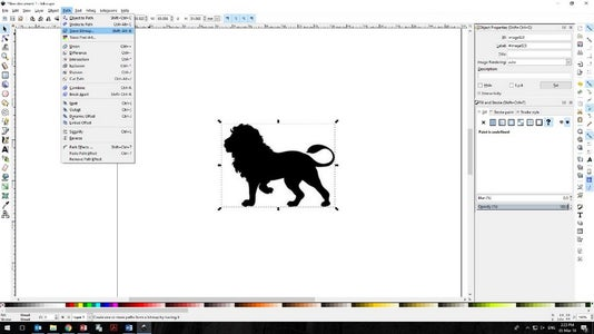 Import Into Inkscape and Trace Bitmap: