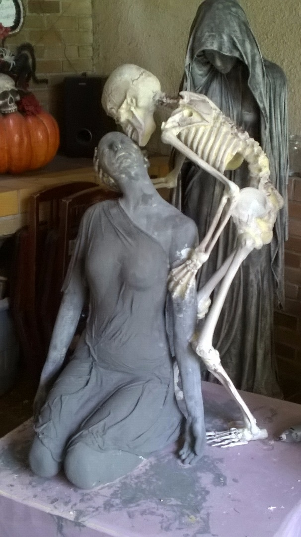 Picture of Bringing the Female and the Skeleton Statue Together