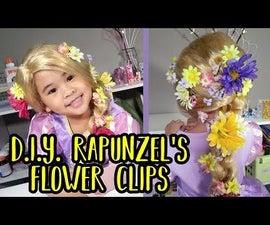 DIY Rapunzel Flower Hair Clips | Disney Tangled Craft